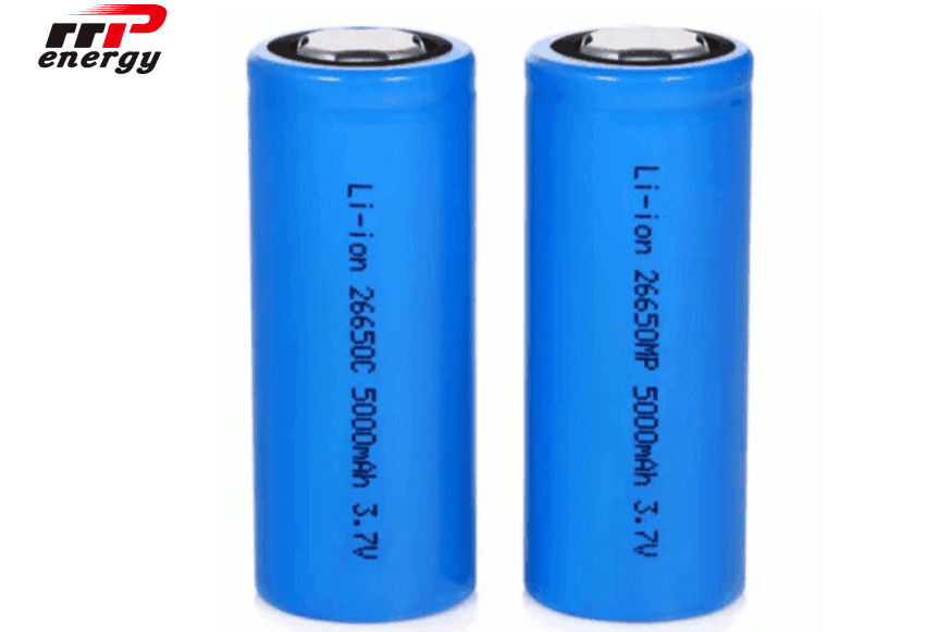 High Rate CB Lithium Ion Rechargeable Batteries 3.7V 26650 5000mAh One Year Guarantee